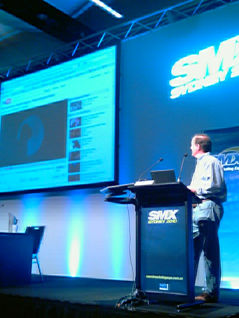 Chris Sherman keynotes at SMX Sydney 2010