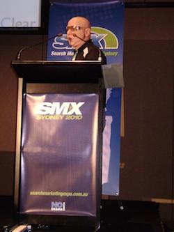 Marty Weintraub presenting at SMX Sydney 2010
