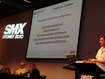 Todd Friesen presenting at SMX Sydney 2010